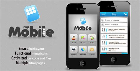 free mobile template 40 best mobile website templates designmaz