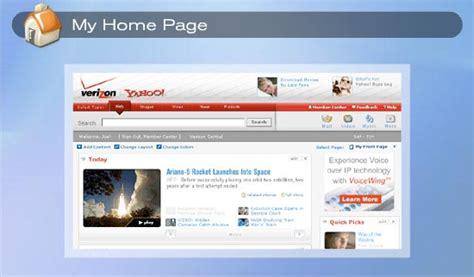 Verizon Home Page by Verizon Yahoo Dsl Product Tour Home
