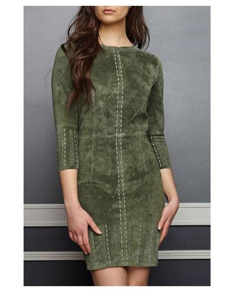Beat Suede Hoodie Honda Genuine Apparel Jacket stella marcella suede dress olive in green lyst