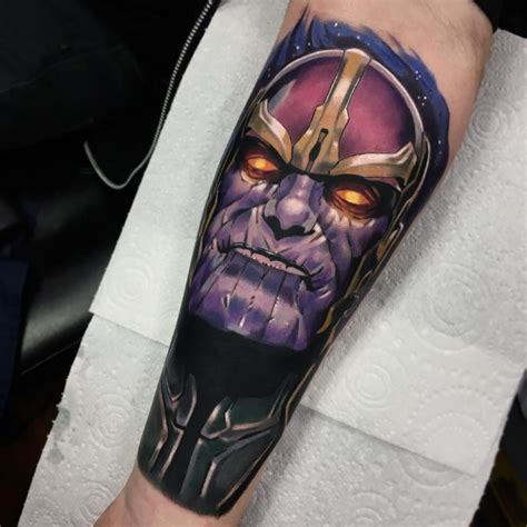 thanos tattoo thanos by baker best tattoos