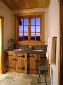 Rustic country bathroom vanities
