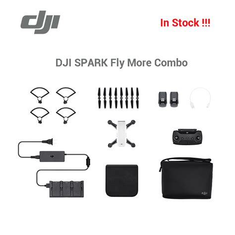 Quadcopter Drone Dji Spark Fly More Combo Original Garansi Resmi 1tahu new arrival dji spark fly more combo drone gps glonass gesture with remote controller