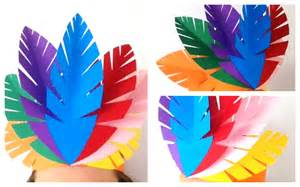 make a fun indian paper feather headpiece blog mocka
