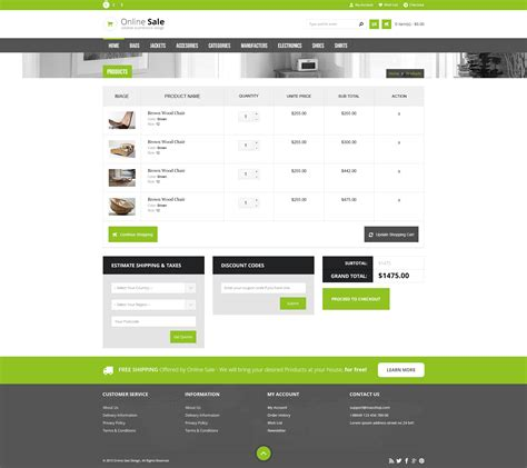 shopping cart template for sale responsive html5 ecommerce template by