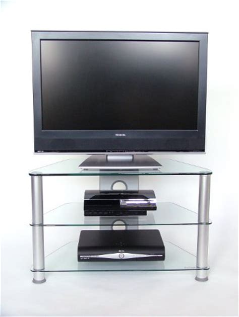 demagio dm021 3 shelf clear glass tv stand glass tv stand