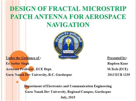 fractal antenna template pdf fractal patch antenna for aerospacenavigation authorstream
