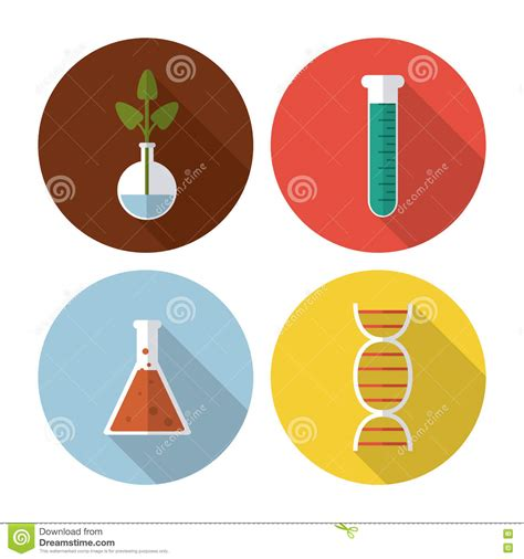 icon design lab biology icon set gold buttons vector illustration