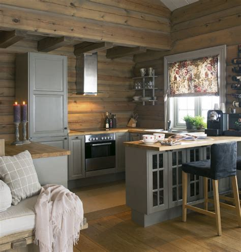 cabin kitchens ideas cozy cabin kitchen love the gray cabinets against all the