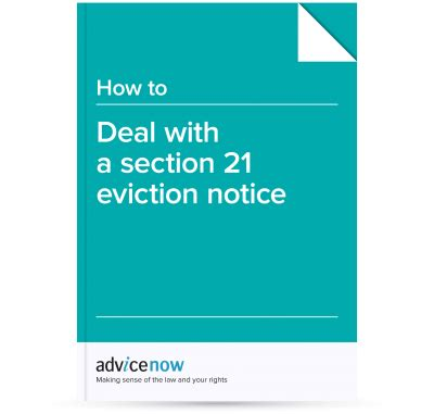 Section 21 Notice by How To Deal With A Section 21 Eviction Notice Advicenow