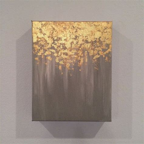 greeny wall paintings modern diy art design collection sale gold leaf painting abstract gold leaf painting 8x10