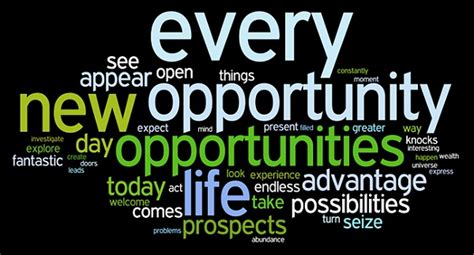 New Opportunities Knockingi Often Whethe by Opportunities Realized Heritage