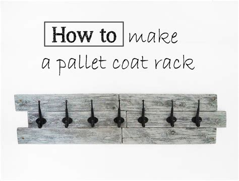 useful diy coat rack from a wood pallet modern diy