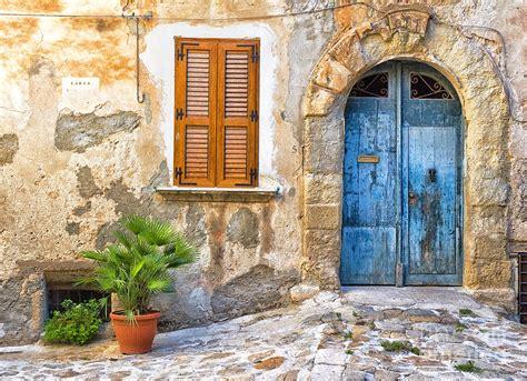 Door Photography by Mediterranean Door Window And Vase Photograph By Ganora