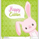 Happy Easter background with cartoon cute bunny. This is file of EPS10 ...