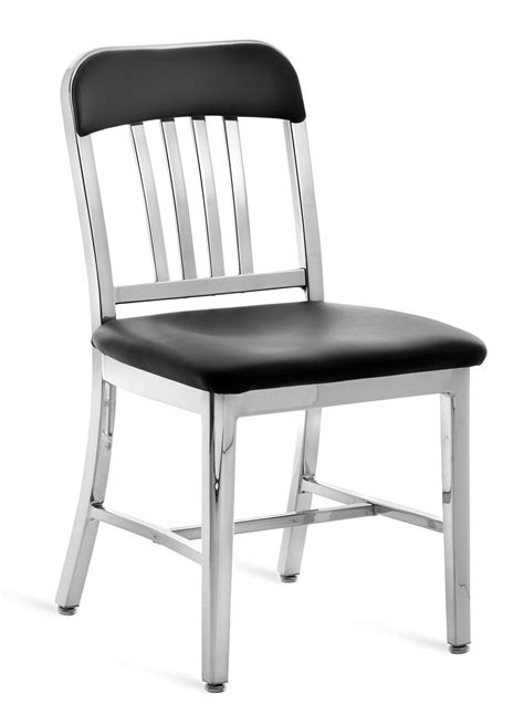 emeco navy upholstered chair emeco navy semi upholstered chair gr shop canada