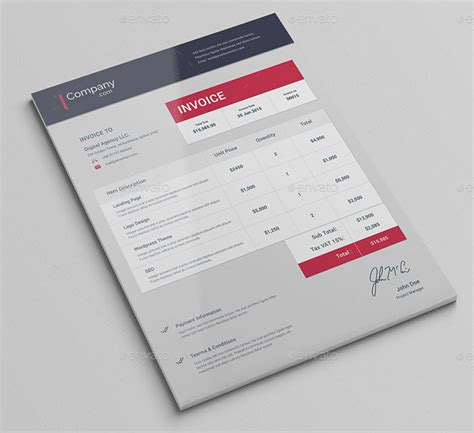 15 Best Invoice Templates To Create Your First Invoice Designyep Best Invoice Design Template