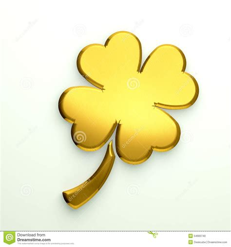 gold clover logo with four leaves stock illustration