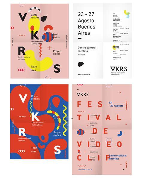 poster layout behance vkrs international video clip festival on behance