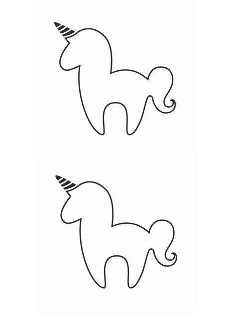 printable unicorn template diy unicorn bookmark with free unicorn printable