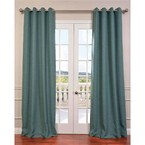 green grommet curtains exclusive fabrics furnishings semi opaque jadite green