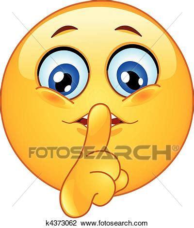fotosearch clipart clipart far tacere emoticon k4373062 cerca clipart