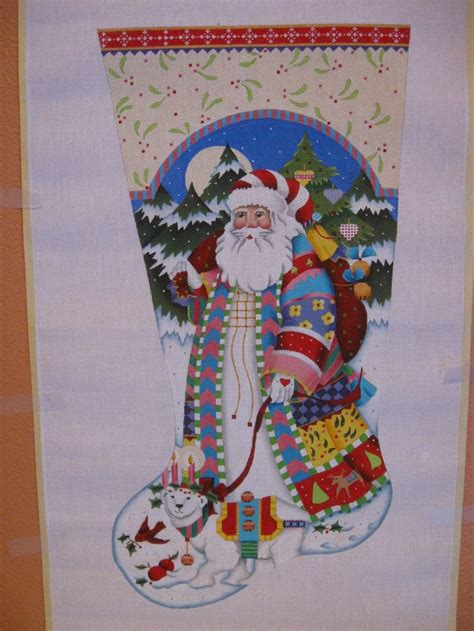 needlepoint patterns for christmas stockings 2004 melissa shirley designs santa christmas stocking