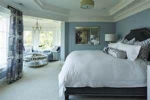 How To Paint Tray Ceilings Blue And Gray Bedroom Transitional Bedroom Benjamin