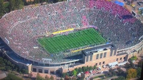 notre dame stadium visitor section three reasons why notre dame will make the playoff her