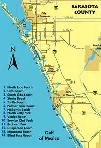 sarasota florida county beaches map siesta key vacation