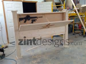 custom furniture with compartments headboard