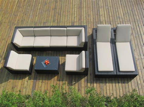 outdoor sofa tables genuine ohana outdoor sectional sofa and chaise lounge 9pc