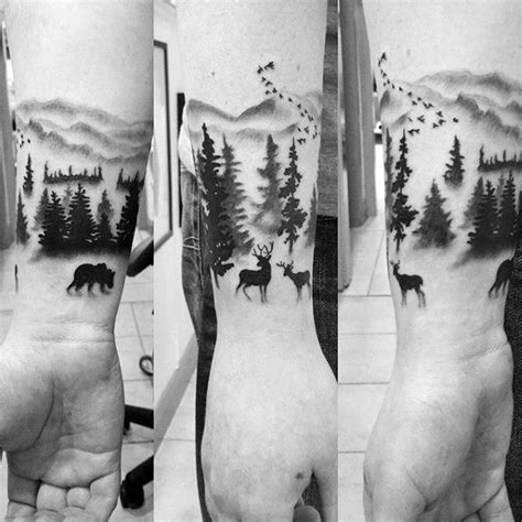 nature wrist tattoos 100 forest designs for masculine tree ink ideas