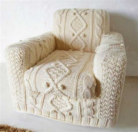 Designer Couches 30 knitted furniture covers and decorative accessories