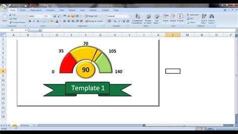 Excel Speedometer Template by Free Excel Kpi Speedometer