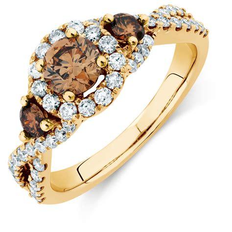 Three Engagement Ring by Three Engagement Ring With 1 23 Carat Tw Of