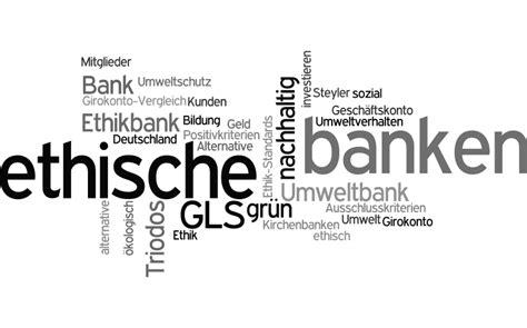 ethische banken vergleich ethische banken