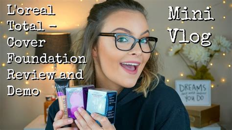 review demo l oreal evercurl l oreal infallible total cover foundation impressions demo review mini vlog