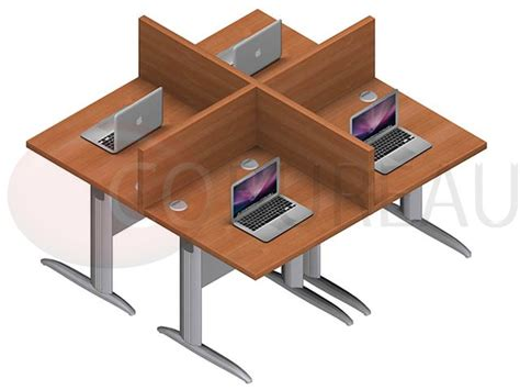 marguerite bureau marguerite 4 postes identiques en largeur 80 cm plateaux