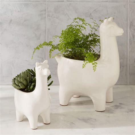 ceramic llama planters west elm australia