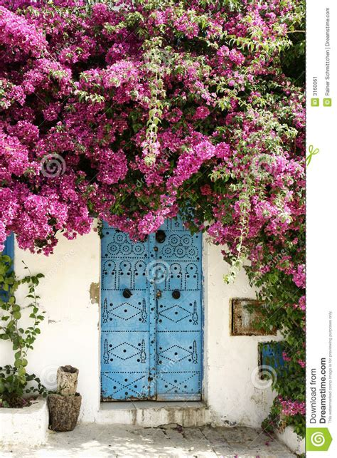Flower Vase Lamp Door And Flowers Stock Image Image 3160061