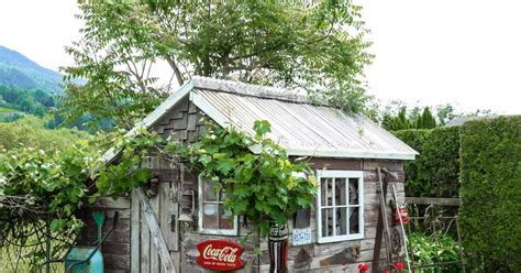hometalk rustic fall garden shed the rustic garden shed that tells a story hometalk