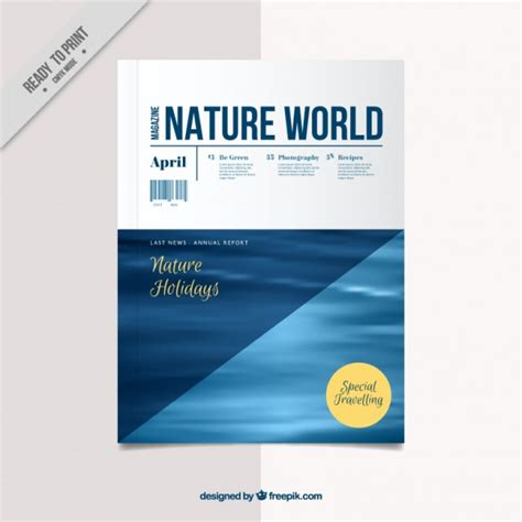 free magazine cover templates downloads nature magazine cover template vector free
