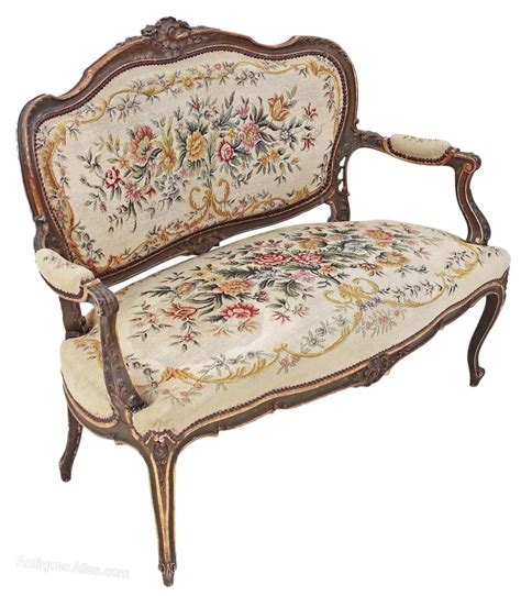 chaise settee lounge painted louis xv sofa chaise longue antiques atlas