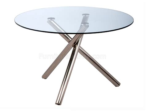 dining table w clear glass top by whiteline imports