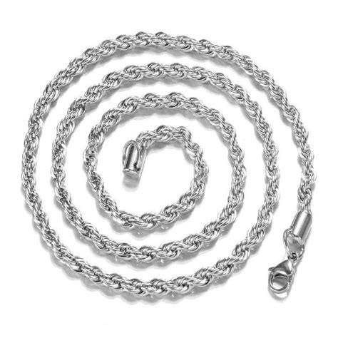 Twist Silver Necklace twist silver chain necklace rope chain surewaydm free