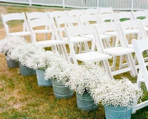 Wedding Aisle Decorations On A Budget by Baby S Breath Wedding Aisle Decor Maybe Not As Aisle