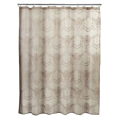curtains in target lace shower curtain cappuccino target