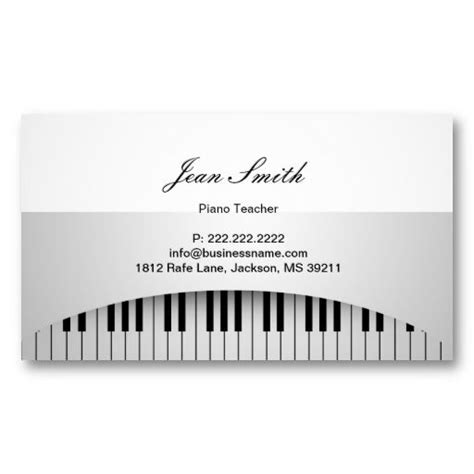 Piano Business Card Template by 20 Best Images About Piano Business Cards On