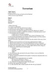 Terrorism Essay Topics by Important Essays Outlines 1