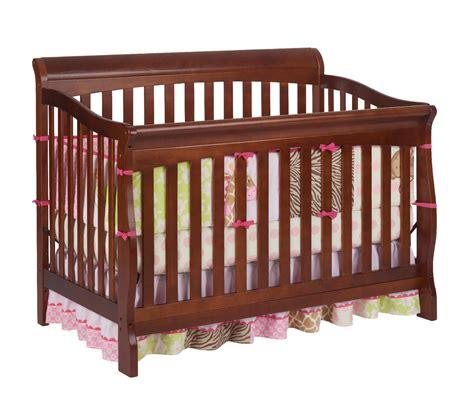Delta Crib Parts by Delta Children Venetian Sleigh 4 In 1 Crib Cherry